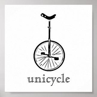 unicycle print