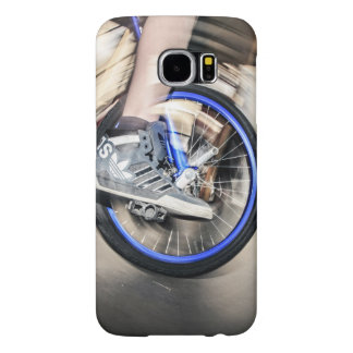 Unicycle Themed, A Man Showing Stunts On A Unicycl Samsung Galaxy S6 Case