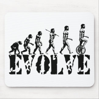 Unicycle Unicycling Sport Evolution Art Mouse Pad