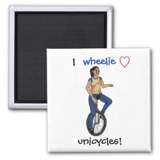 Unicycles del amor del wheelie I Imán Para Frigorifico