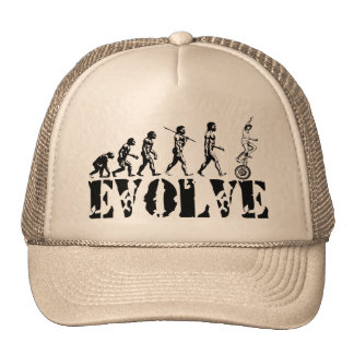 Unicycling Unicyclist Unicycle Evolution Sports Hats