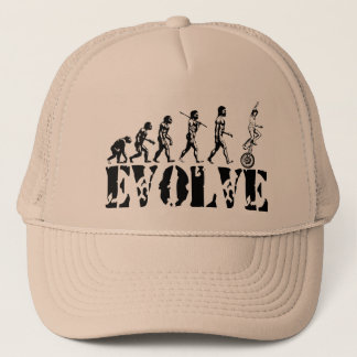 Unicycling Unicyclist Unicycle Evolution Sports Trucker Hat