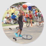 Unicyclist - baloncesto - reglas de la calle etiqueta
