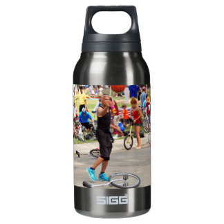 Unicyclist - Basketball - Street rules 10 Oz Insulated SIGG Thermos Water Bottle