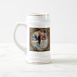Unicyclist - Basketball - Street rules 18 Oz Beer Stein
