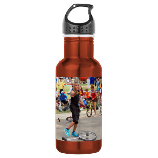 Unicyclist - Basketball - Street rules 18oz Water Bottle
