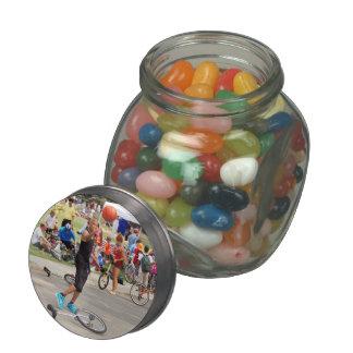 Unicyclist - Basketball - Street rules Glass Jars