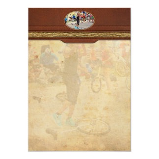 Unicyclist - Basketball - Street rules 5x7 Paper Invitation Card