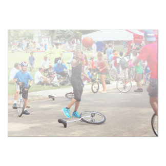 Unicyclist - Basketball - Street rules Personalized Invite
