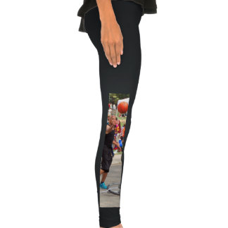 Unicyclist - Basketball - Street rules Legging Tights