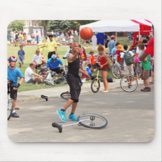 Unicyclist - Basketball - Street rules Mouse Pad