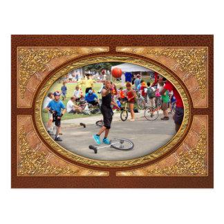 Unicyclist - Basketball - Street rules Postcard