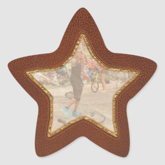 Unicyclist - Basketball - Street rules Star Sticker