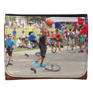 Unicyclist - Basketball - Street rules Leather Wallet