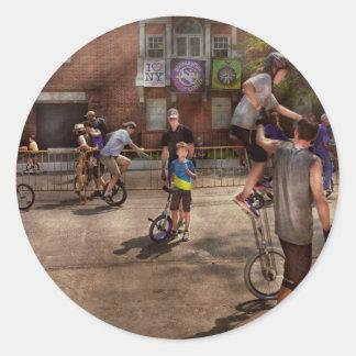 Unicyclist - Unicycle training camp Classic Round Sticker