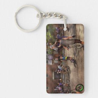 Unicyclist - Unicycle training camp Double-Sided Rectangular Acrylic Keychain