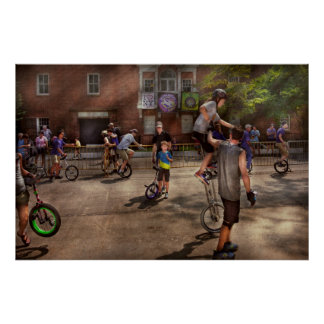Unicyclist - Unicycle training camp Poster