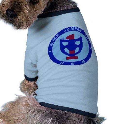 Unidad 1 de los puentes de la playa camiseta con mangas para perro