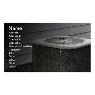 unidad al aire libre del acondicionador de aire plantilla de tarjeta de visita