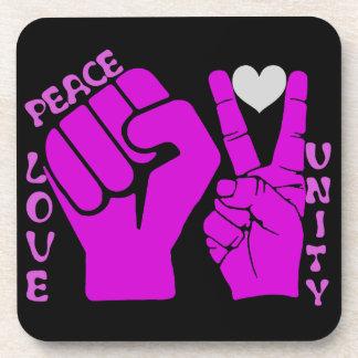 Unidad, amor y paz, Togetherness_ Posavasos De Bebidas