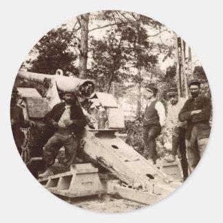 Unidad de artillería francesa de WWI Pegatina Redonda