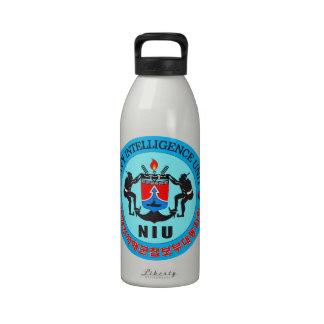 Unidad de inteligencia de la marina de guerra botella de agua