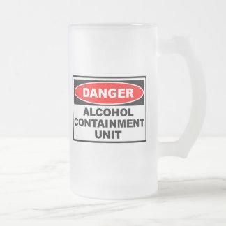 Unidad de la contención del alcohol taza cristal mate