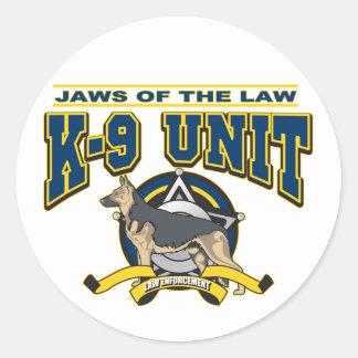 Unidad de la policía K-9 Etiqueta Redonda