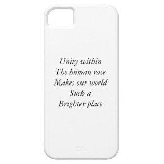 Unidad de la raza humana iPhone 5 funda