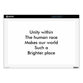 Unidad de la raza humana portátil skin