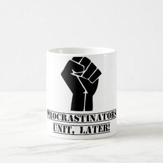 ¡Unidad de los Procrastinators más adelante Dive Tazas De Café