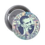 Unidad de Obama, esperanza, cambio y paz 2012 Pins
