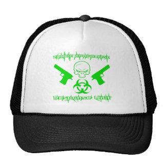 Unidad de respuesta de la apocalipsis del zombi gorros bordados