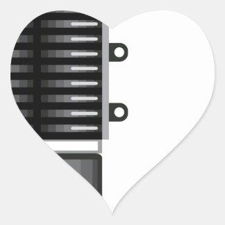 Unidad del sobrealimentador pegatina en forma de corazón