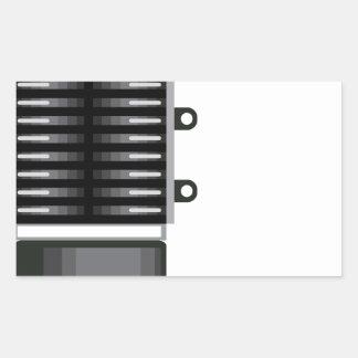 Unidad del sobrealimentador pegatina rectangular