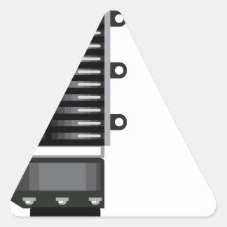 Unidad del sobrealimentador pegatina triangular