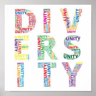 Unidad en poster colorido de la diversidad