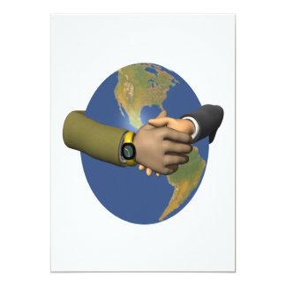 Unidad global invitación 12,7 x 17,8 cm