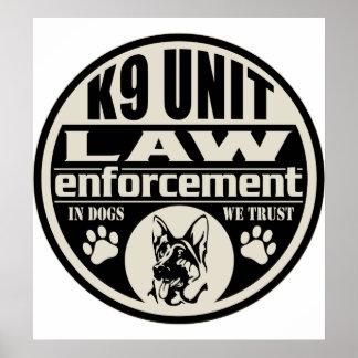 Unidad K9 en perros que confiamos en Impresiones