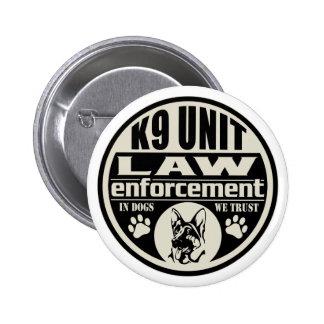 Unidad K9 en perros que confiamos en Pin Redondo 5 Cm