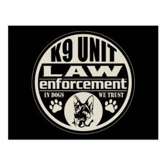 Unidad K9 en perros que confiamos en Postal