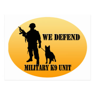 Unidad militar K9 Tarjetas Postales