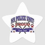 Unidad personalizada K9 orgullosa Pegatina Forma De Estrella Personalizada