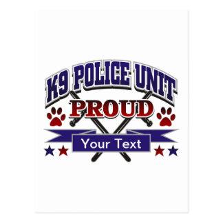 Unidad personalizada K9 orgullosa Tarjetas Postales