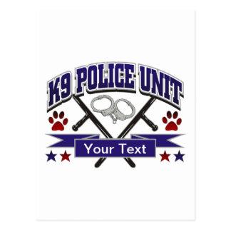 Unidad policial personalizada K9 Postales