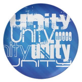Unidad; Rayas azules reales Plato De Cena