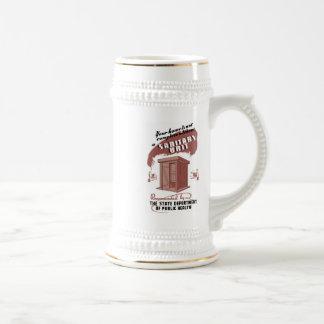 Unidad sanitaria jarra de cerveza