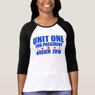 Unidad una para presidente Kasich 2016 Remera