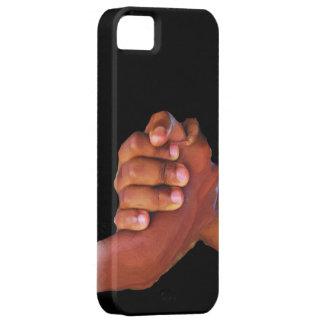 Unidad y amor, mano en Hand_ iPhone 5 Carcasa