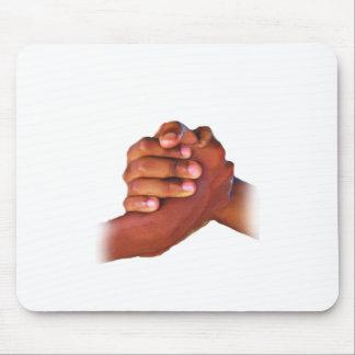 Unidad y amor, mano en Hand_ Tapete De Ratones